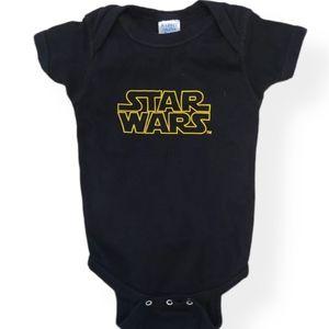 Star Wars black onesie/bodysuit